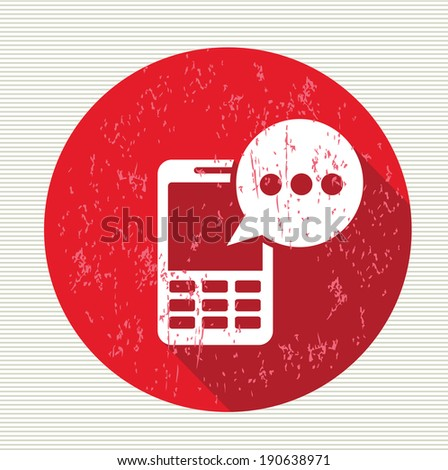 Message on mobile symbol,vector - stock vector