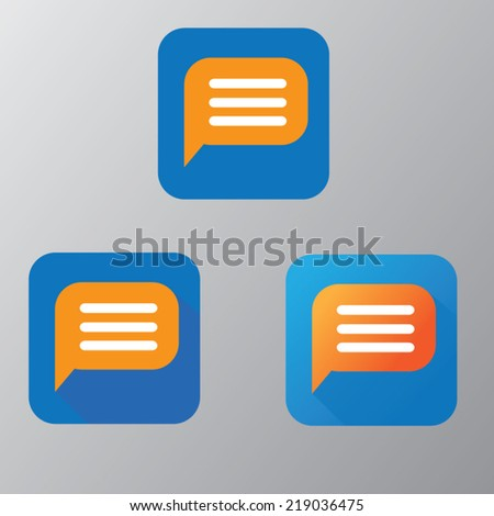 message vector - stock vector