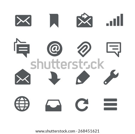 Messages // Apps Interface - stock vector