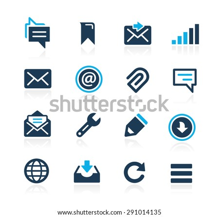 Messages Icons // Azure Series - stock vector