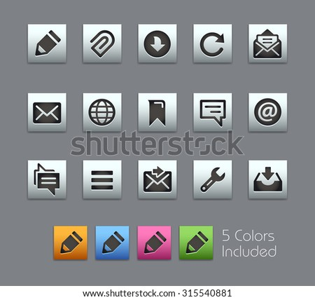 Messages Icons The vector file includes 5 color versions for each icon in different layers ---- - stock vector