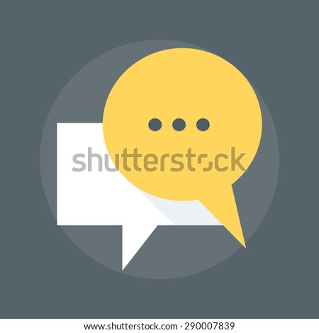 Messaging flat style, colorful, vector icon for info graphics, websites, mobile and print media. - stock vector