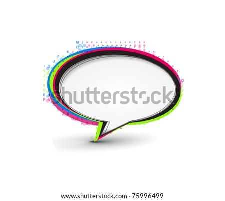 messenger bubble talk  icon vector illustration isolated, - stock vector