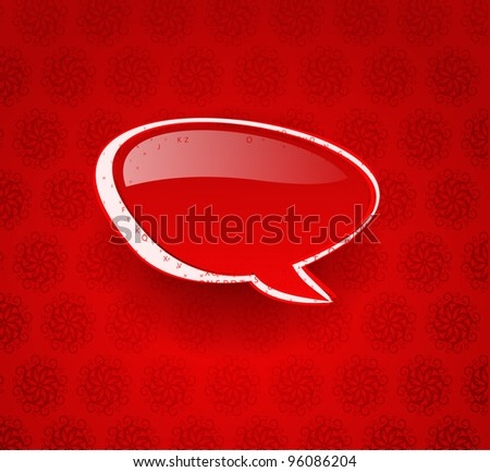 messenger window icon vector illustration isolated on red background. - stock vector