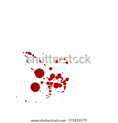 Messy red stains of blood or wine. - stock vector