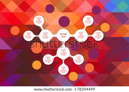 metaball colorful round diagram infographics for presentations - stock vector