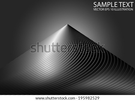Metal abstract striped space background illustration - Glossy space scene vector abstract template - stock vector