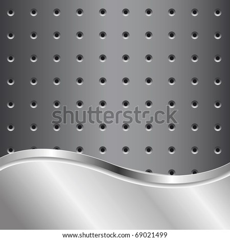 Metal background for your text - stock vector