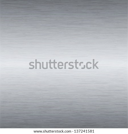 Metal background or texture of brushed steel plate - stock vector