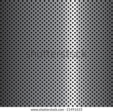metal background with circles - stock vector