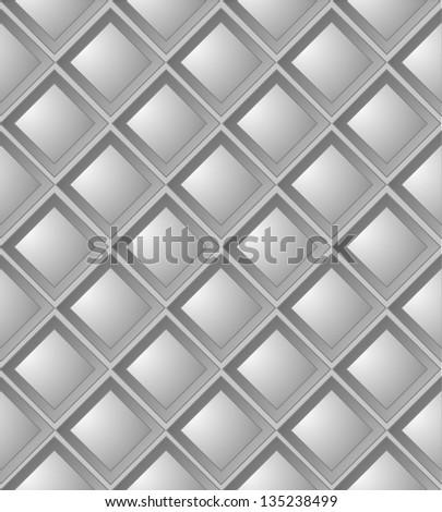 Metal background with diamond design. Seamless texture. - stock vector