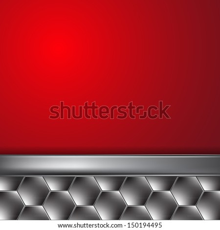 Metal background with place for text. EPS10 Vector. - stock vector
