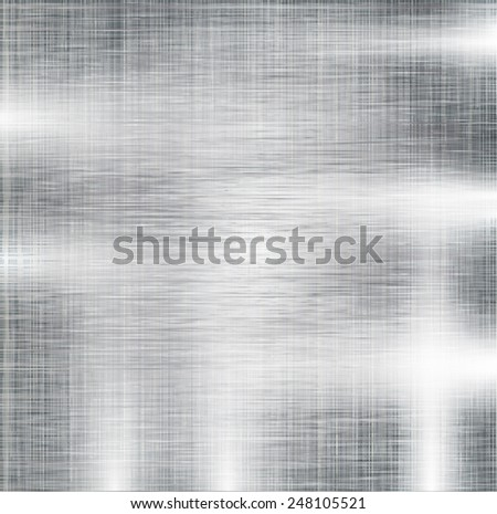 Metal Brushed Texture. Background. Vector Illustration. - stock vector