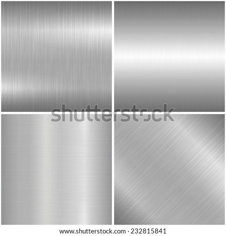 Metal brushed texture. 4 Vector backgrounds - eps10 - stock vector