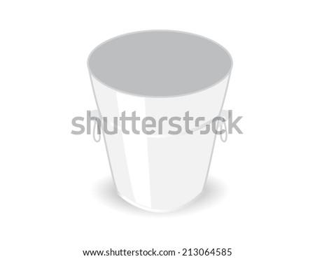 metal bucket - stock vector