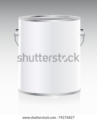 Metal bucket - stock vector