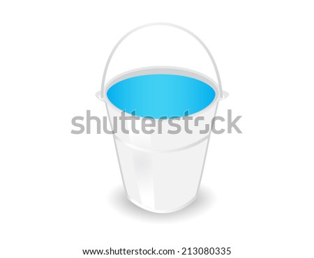 metal bucket on white background