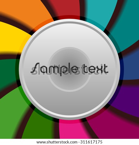 metal button on a bright background - stock vector
