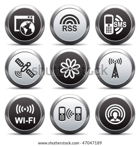 Metal button with icon 30