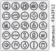 Metal Buttons, Business and Office (set4,part1) - stock vector