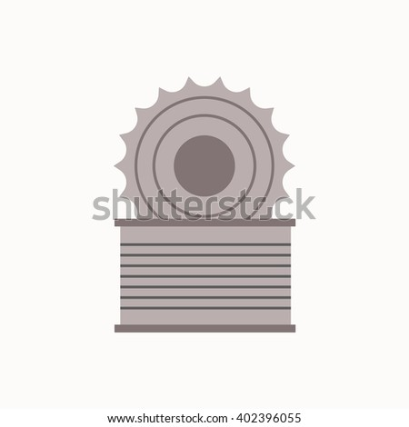 Metal can waste flat concept.  Vector illustration of sorting Metal can waste. Icon of Metal can waste for garbage disposal design.  Metal can waste sorting management .   - stock vector