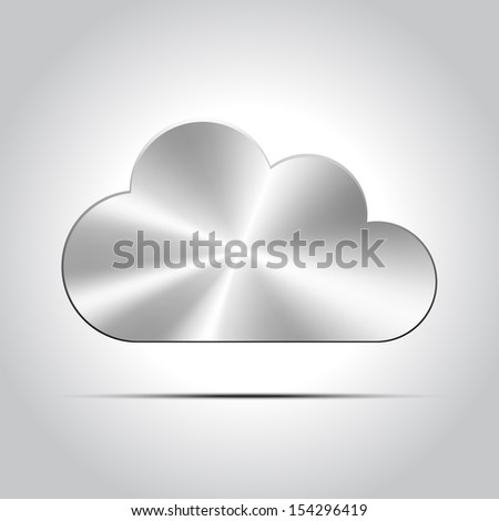 Metal cloud icon - stock vector