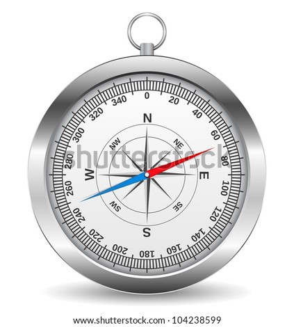 Metal compass, vector eps10 illustration
