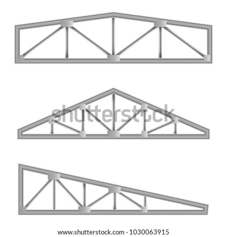 Steel roof truss stock images royalty free images for Roof truss sign