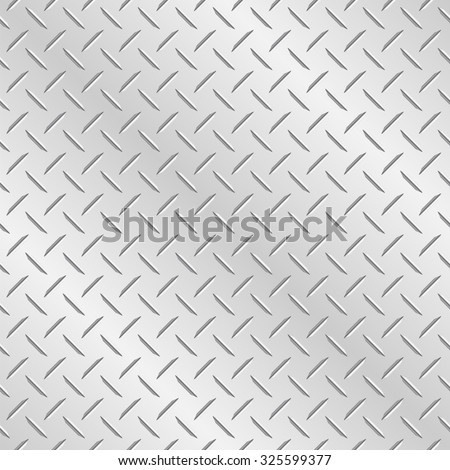 Metal Diamond Plate Vector Wallpaper Background That Repeats Left Right Up And Down