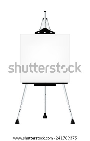 Metal easel isolated background. Vector illustration.