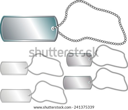 metal identity tag  - stock vector