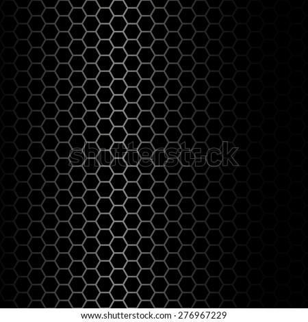 Metal mesh on a black background, vector