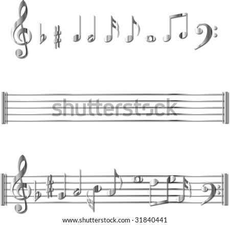 Metal music notes