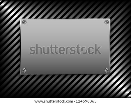metal plate background - stock vector