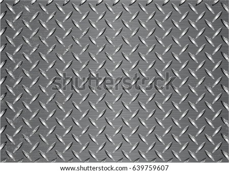 Metal Plate Texture Background Vector Stock Vector 639759607 ...