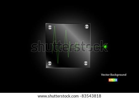 Metal plate vector - stock vector