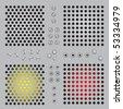 Metal protective lattice, bolts, screws. - stock vector