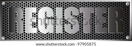metal register - stock vector