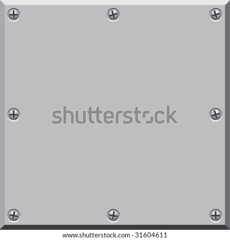 Metal surface. Vector. - stock vector