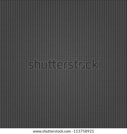 Metal surface with dark gray texture, vector - stock vector