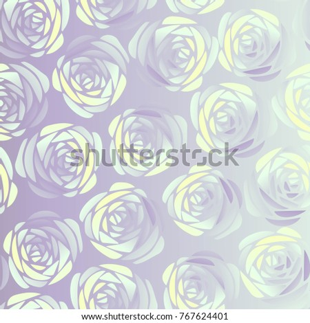 The Silver Rose Seamless Floral Ornament Vintage Background