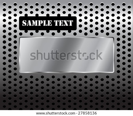 Metal texture / pattern with holes and place for your text