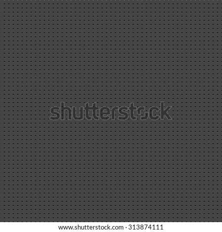Metal texture with holes. Seamless vector background. - stock vector