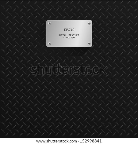 Metal texture with metal plate background - Vector illustration