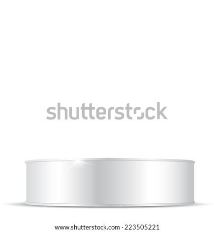 Metal tin can - stock vector