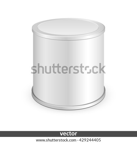 Metal tin can, canned food. Illustration isolated on white background. Graphic concept for your design