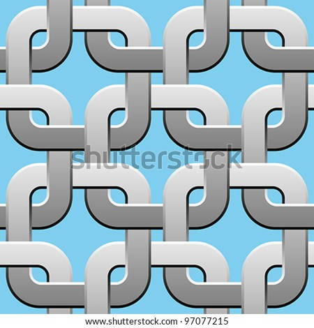 metal twisted rings seamless pattern - stock vector