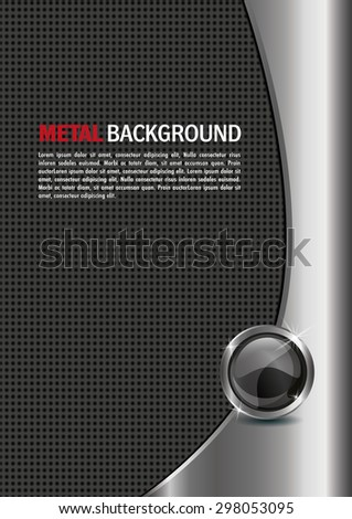 metal vector background - stock vector