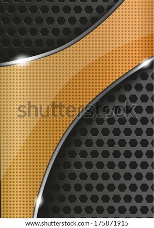metal vector glossy background - stock vector