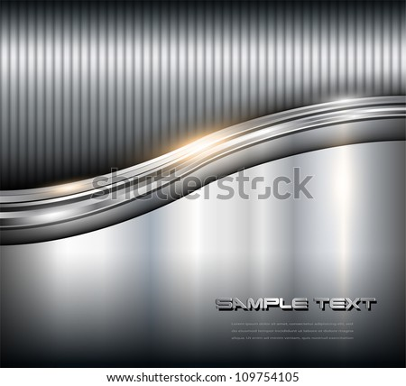 Metallic background steel texture, vector. - stock vector